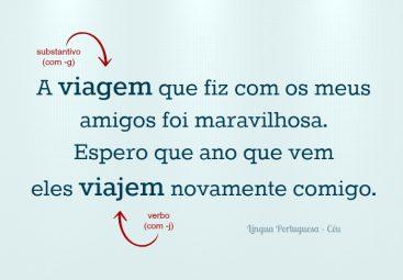 Diferença entre viagem e viajem. Fonte: http://linguaportuguesa.blog.br/wordpress/wp-content/uploads/2015/01/viagem-viajem.jpg
