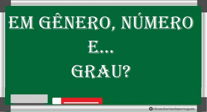 Concordo em gênero, número e grau. É correta esta expressão?