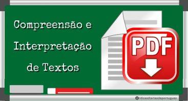 Materiais Em Pdf Compreensão E Interpretação De Textos