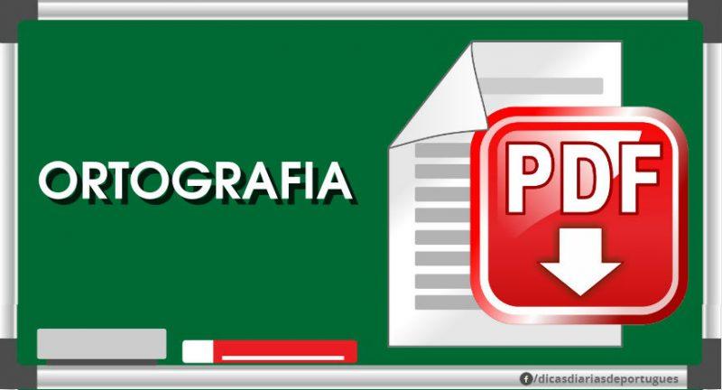 Apostilas em PDF sobre ortografia