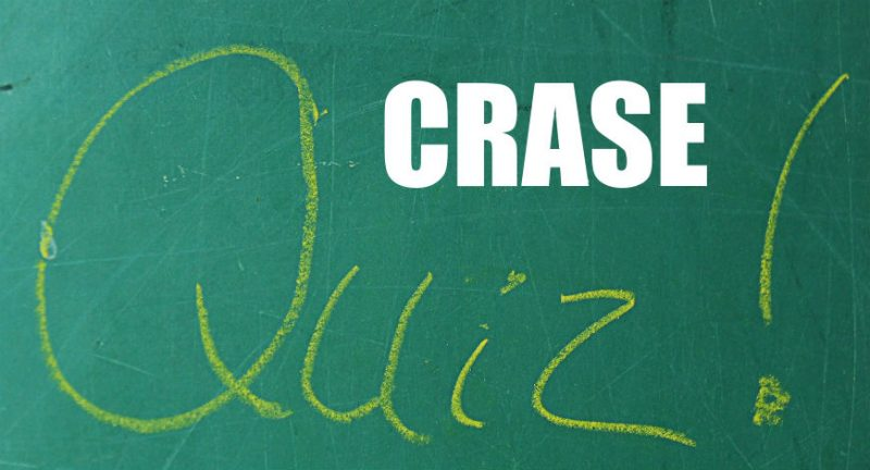 Quiz sobre crase