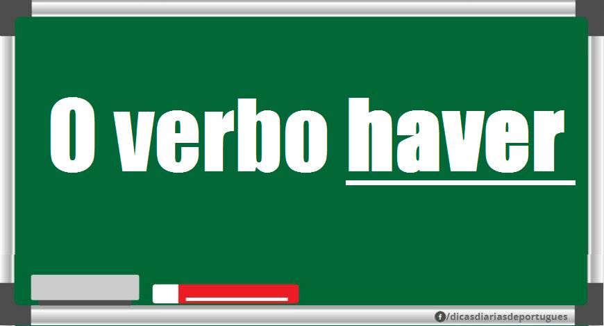O verbo haver