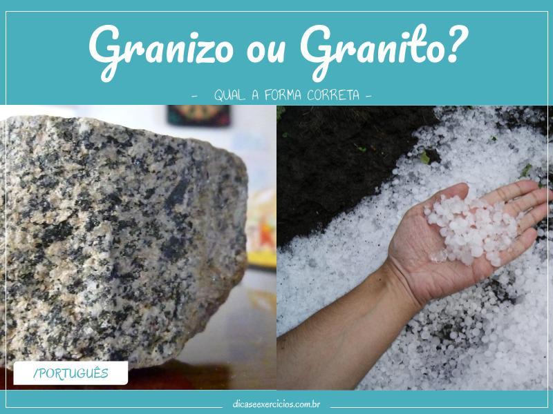 Granizo ou granito?