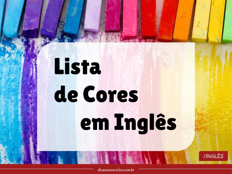 Lista de cores em inglês