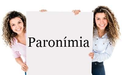 Exercício paronímia: Encontre a frase correta.