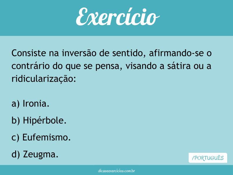 Exercício – Figuras de Linguagem