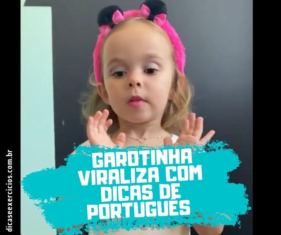 """""""Não erre mais"""" – Garotinha de 4 anos viraliza com dicas de Português"""