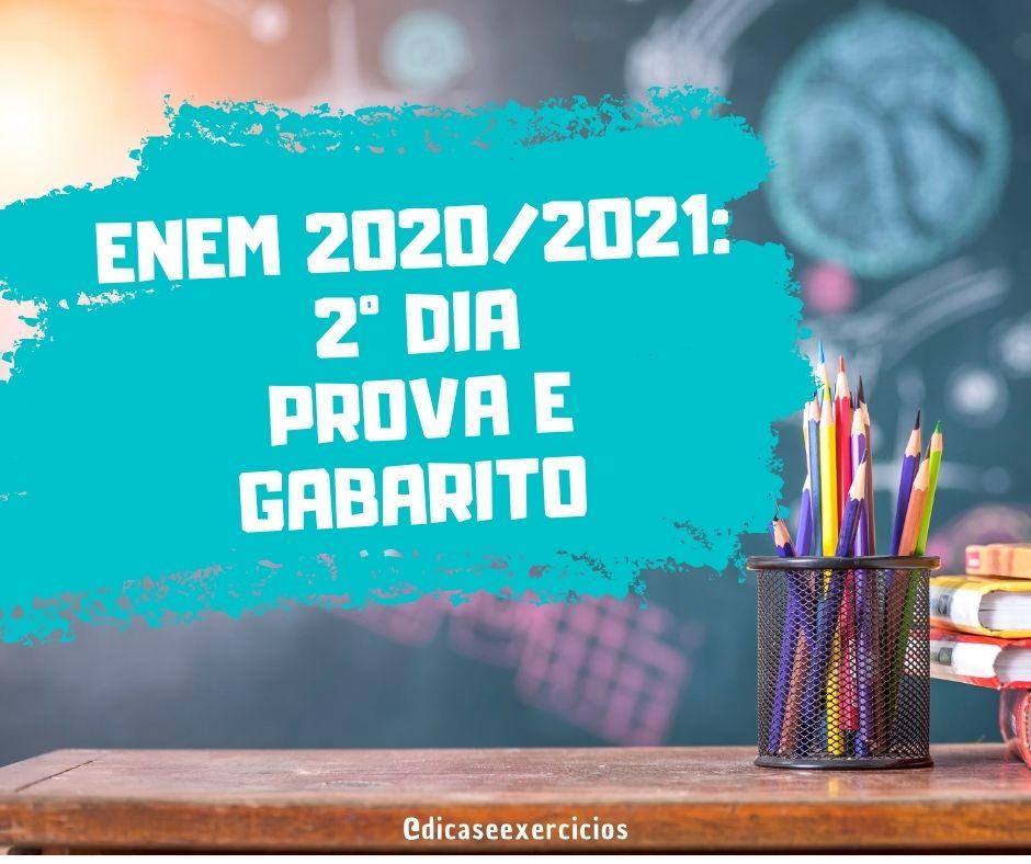 Gabarito Enem 2020 – 2º dia