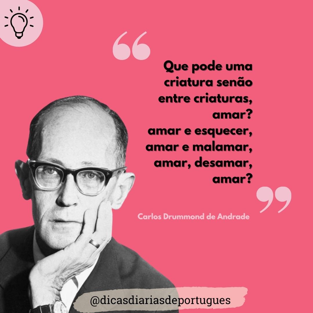 """Poema """"Amar"""" de Carlos Drummond de Andrade"""
