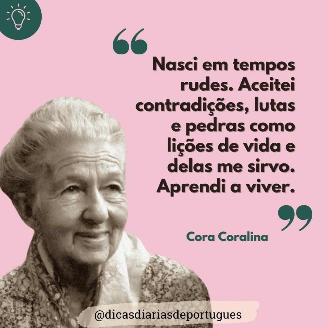 132 anos do nascimento de Cora Coralina; saiba mais sobre a autora